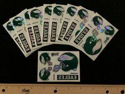 10 count Philadelphia Eagles 5 Piece Prismatic Sticker Sheet