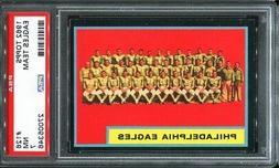 1962 Topps #126 Philadelphia Eagles team card PSA 7