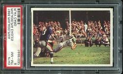 1966 Philadelphia #143 Philadelphia Eagles play  PSA 8