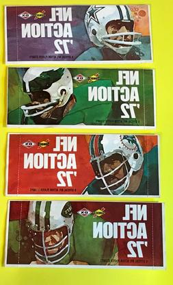 1972 Sunoco Football Unopened Packs/9 Stamps per pack