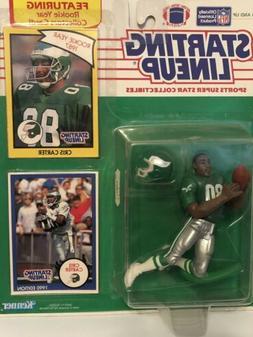 1990 starting lineup Chris Carter Football figure card Phila