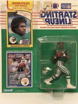 1990 starting lineup Randall Cunningham Football figure card