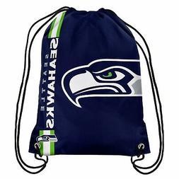 Seattle Seahawks Back Pack/Sack Drawstring Gym Bag Sport Bac