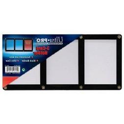 ULTRA PRO BLACK FRAME 3 CARD SCREWDOWN HOLDER 4 Screw Clear