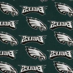 BTHY NFL Philadelphia Eagles Logos Cotton Fabric 6210 By The