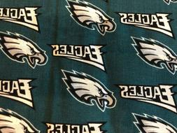 "Fabric NFL Philadelphia Eagles football cotton 1/4 yd, 9"" x"