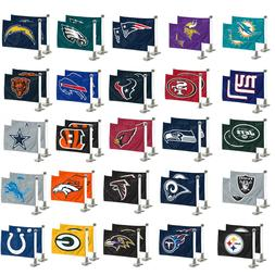 Football Car Hood Trunk Flags Set of Two Double Sided Ambass