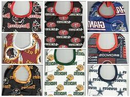 Handmade Baby Bibs made with NFL fabric