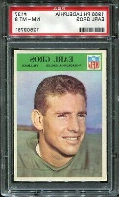 1966 Philadelphia #137 Earl Gros PSA 8 Philadelphia Eagles L