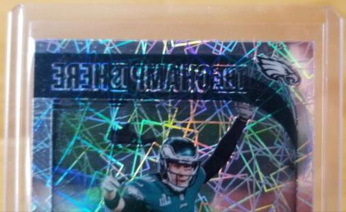 2018 Donruss Nick Foles The Here Insert Eagles Bowl MVP