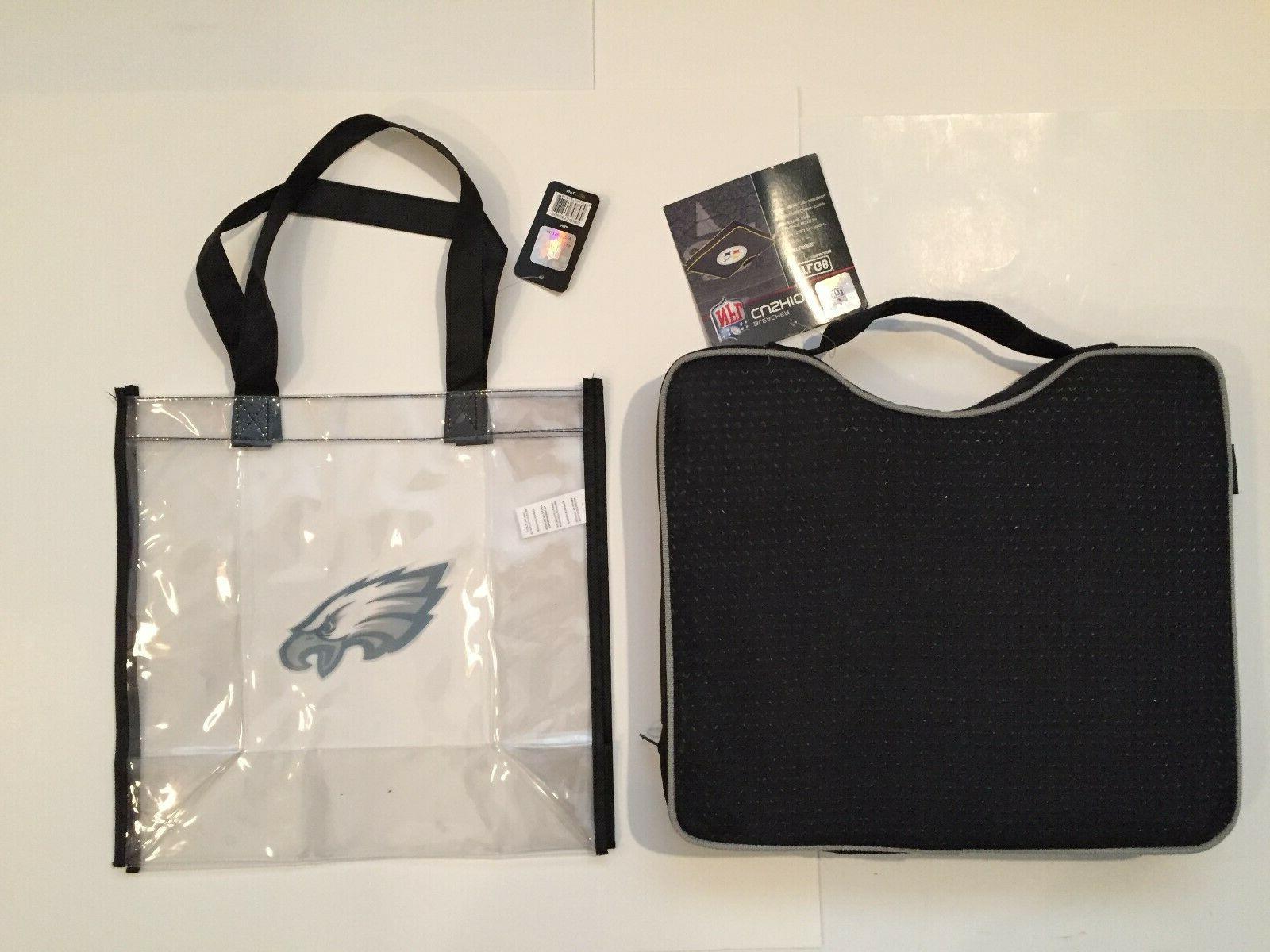 New Eagles Lot Bleacher cushion & Clear Bag