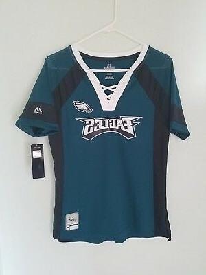 nfl team apparel philadelphia eagles v neck