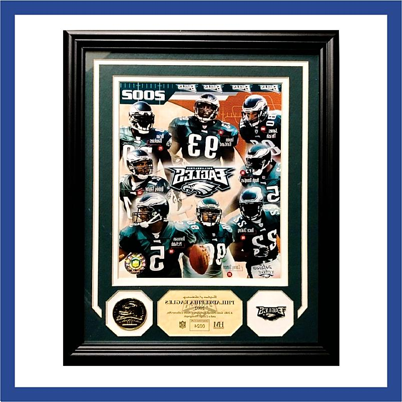 philadelphia eagles 2002 team plaque w coin