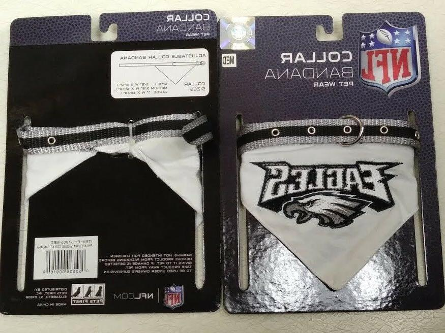 philadelphia eagles adjustable collar bandanna pet wear