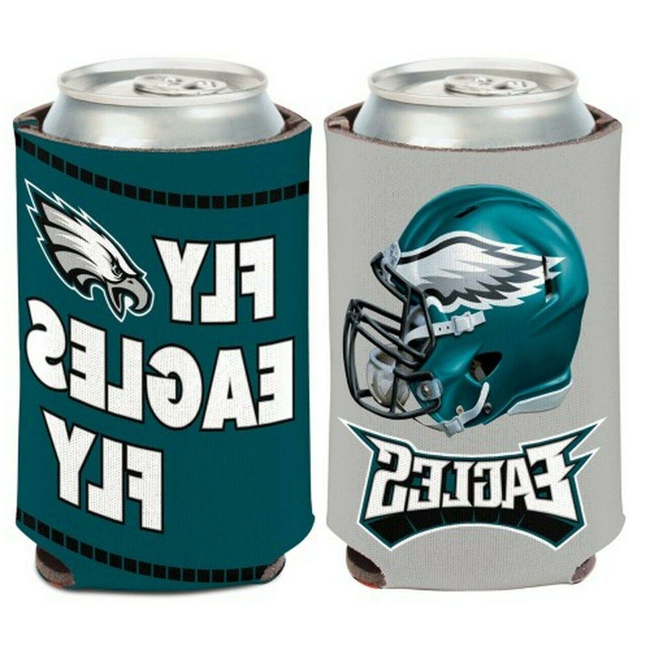 philadelphia eagles can cooler slogan design 12oz