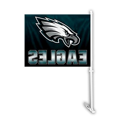 Fremont Die Inc Philadelphia Eagles Car Flag With Wall Brack