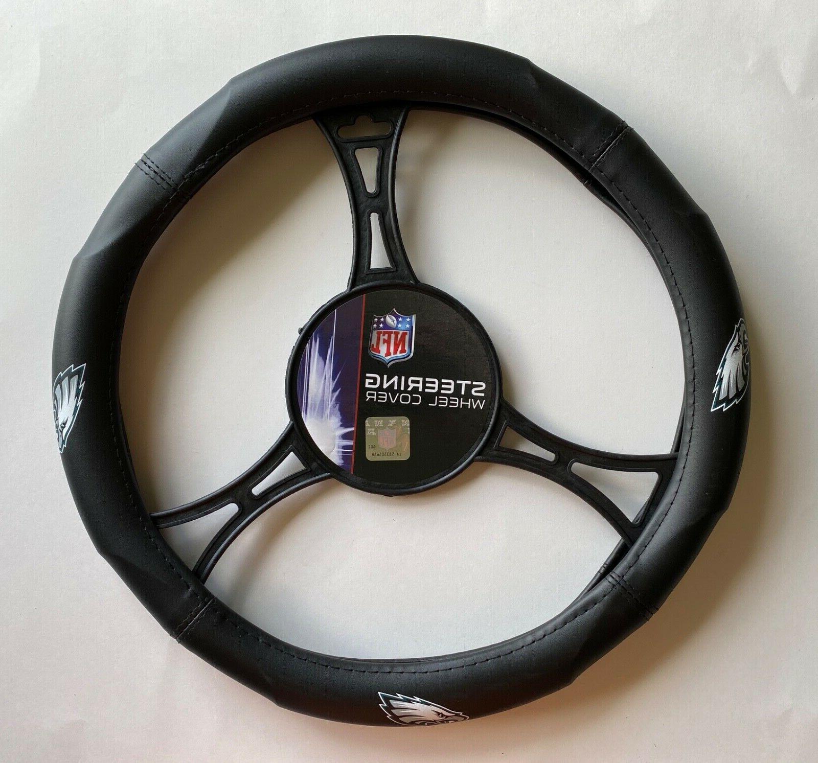philadelphia eagles car truck black steering wheel