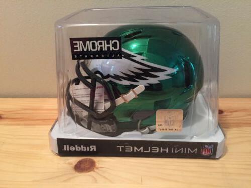 philadelphia eagles chrome alternate speed mini helmet