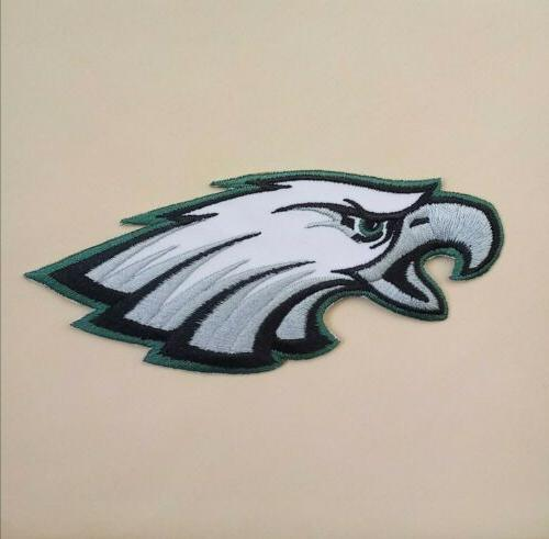 philadelphia eagles embroidered 5 iron on patch