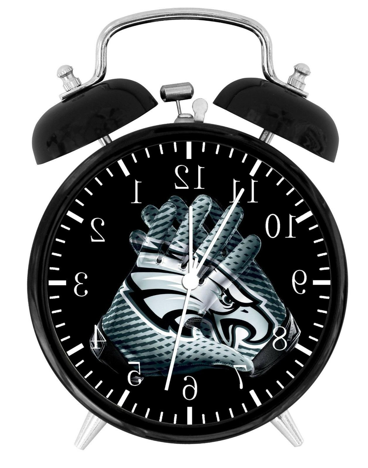 philadelphia eagles football alarm desk clock home