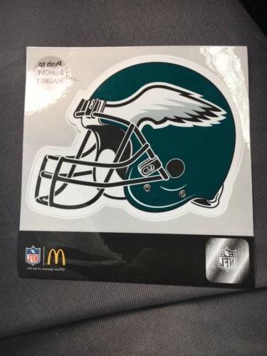 philadelphia eagles helmet logo magnet for car