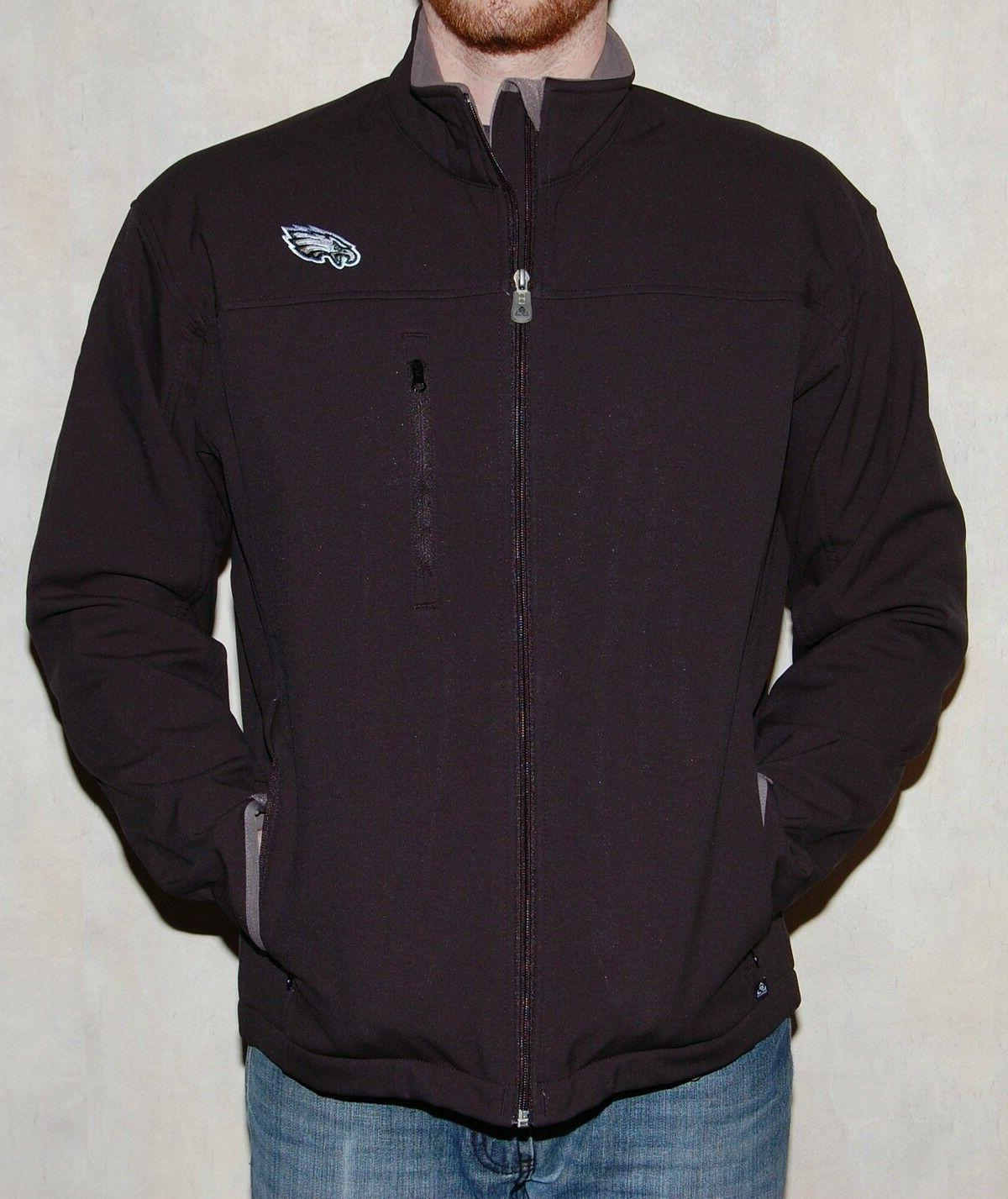 philadelphia eagles jacket full zip performance soft