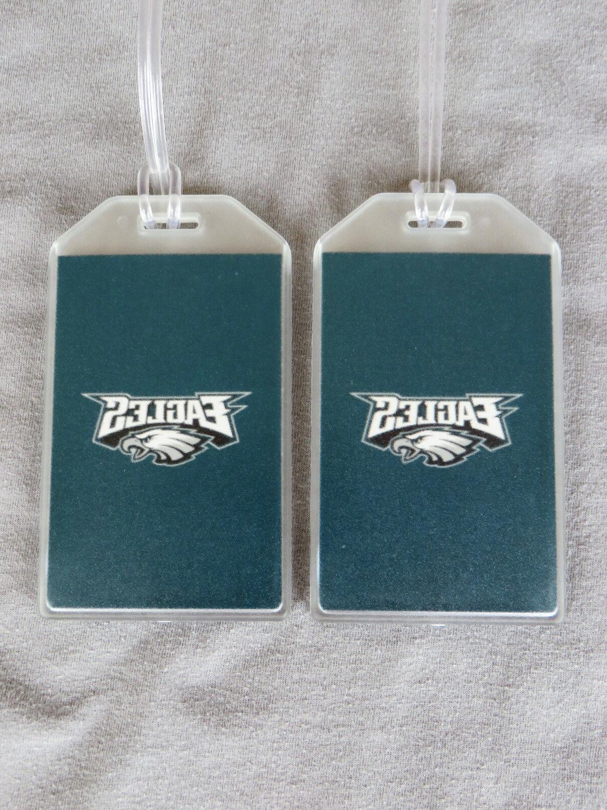 philadelphia eagles luggage tags set of 2