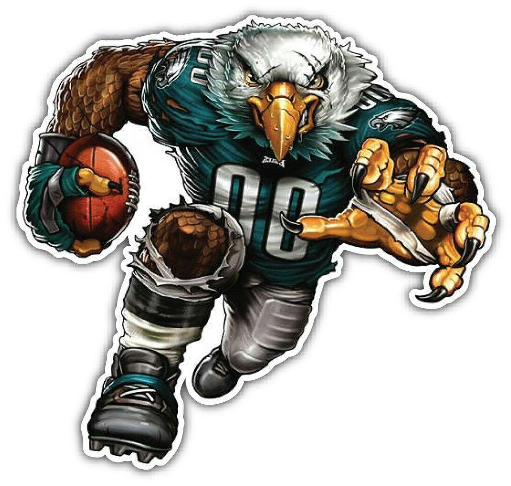 philadelphia eagles nfl mascot car bumper sticker