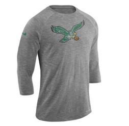 Nike Men's Philadelphia Eagles Historic 3/4 Sleeve Crackle
