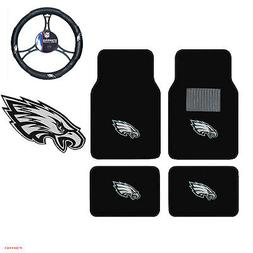 New NFL Philadelphia Eagles Car Truck Floor Mats Steering Wh