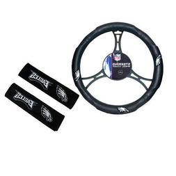 New NFL Philadelphia Eagles Car Truck Steering Wheel Cover S