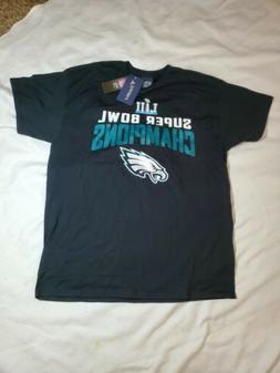 New NFL Philadelphia Eagles T-Shirt Fanatics Super Bowl Cham