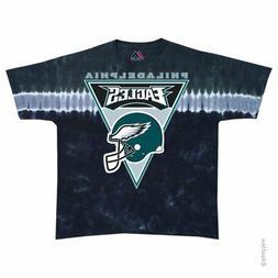 New PHILADELPHIA EAGLES Banner LOGO   Tie Dye T-Shirt NFL LI