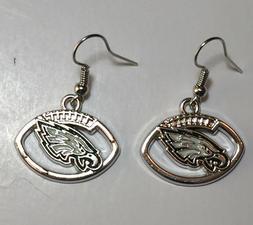 New Philadelphia Eagles Football Shape Fish Hook Earrings, G