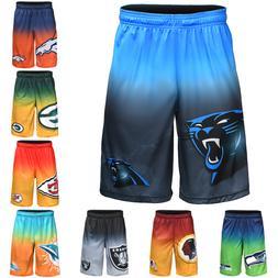 NFL Football Mens Gradient Big Logo Training Gym Shorts - Pi