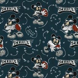 NFL Football Philadelphia Eagles Mickey Mouse Disney Cotton