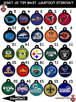 NFL-Football-Team-Dog-Cat-Pet-ID-Tag for Collars! Double Sid