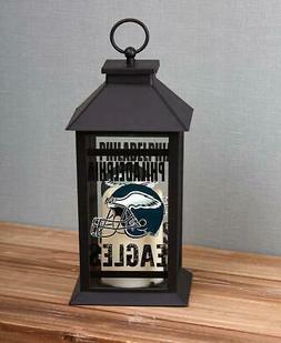 NFL FOOTBALL TEAM LED TABLETOP HANGING CANDLE LANTERN EAGLES