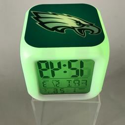 Philadelphia Eagles LED Digital Alarm Clock Watch Lamp Decor