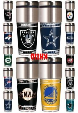 NFL,NBA,MLB Team 360 Wrap Travel Tumbler Coffee Mug Cup
