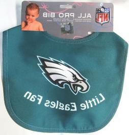 NFL NWT INFANT ALL PRO BABY BIB - GREEN - PHILADELPHIA EAGLE