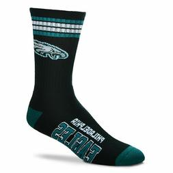 NFL Philadelphia Eagles 4 Stripe Deuce Socks MEDIUM For Bare