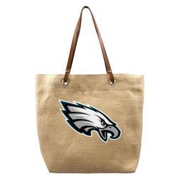 NFL Philadelphia Eagles Burlap Jute Tote Bag Handbag Purse