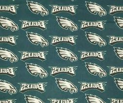 NFL PHILADELPHIA EAGLES Cotton Fabric by the 1/4 Yard for Fa