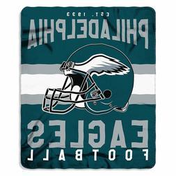 New NFL Philadelphia Eagles Helmet Logo Soft Fleece Throw Bl