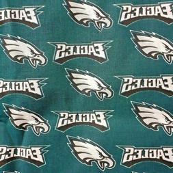 NFL PHILADELPHIA EAGLES Logo 100% Cotton Fabric by the 1/4,