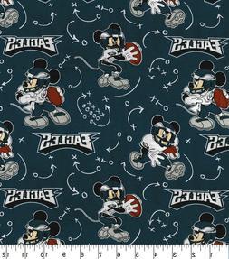 NFL PHILADELPHIA EAGLES - MICKEY MOUSE 100% Cotton Fabric 1/
