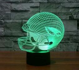 NFL Philadelphia Eagles Night Light Des 3D Acrylic LED 7colo