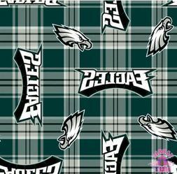 NFL Philadelphia Eagles Plaid Fleece Fabric 6439 D
