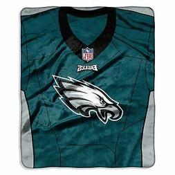 """NFL Philadelphia Eagles Royal Plush Raschel 50"""" x 60"""" Throw"""